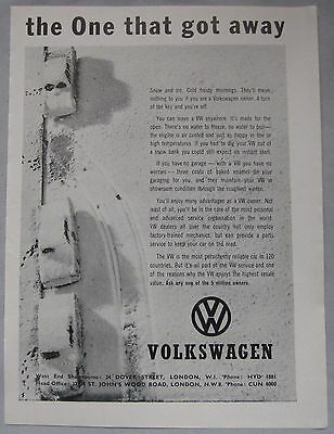 1962 Volkswagen Original advert
