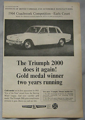 1964 Triumph 2000 Original advert No.1