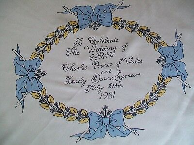 Jacqmar. 1981 Charles & Diana Royal Wedding  Design Vintage Silk Scarf