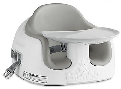 Bumbo Multi Seat Grey Feeding Booster Adjustable Height Wipe Clean Secure Safe