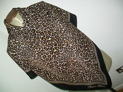 Shahnaz Husain. Huge Top Quality Animal Print Design Vintage Silk Scarf