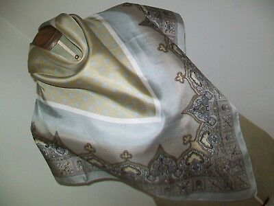 Smart & Luxurious Spotty / Paisley Design Vintage Silk Scarf