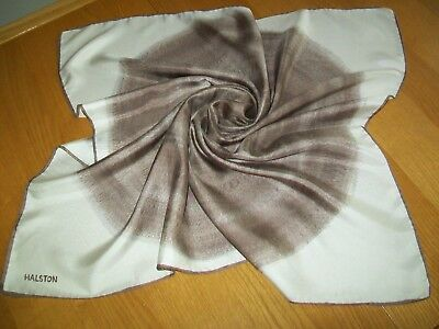 Halston. Very Striking & Unusual Abstract Design Vintage Silk Scarf