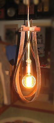 A Rustic Style Hand Made Pendant Light