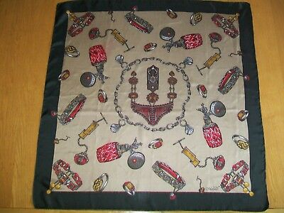 Matinto. Gorgeous Gold & Jewels Design Vintage Silk Scarf