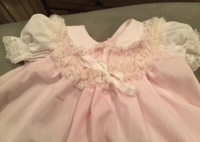 Vintage Bryan Baby Girl Frilly Pink 3-6 MO Dress NEVER WORN  New STORED PROPERLY