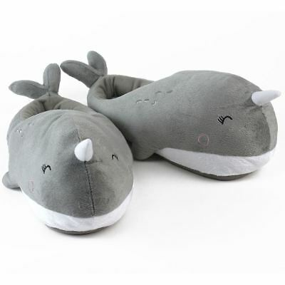Nari Narwhal USB Heated Plush Slippers Footwarmer