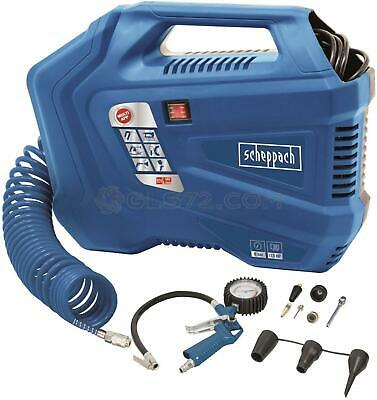 Compressore Aria Portatile 2L Con Accessori 1.5Hp Scheppach Air Force