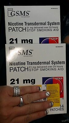 Step 1, 21 mg nicotine patches 28 count by GSMS