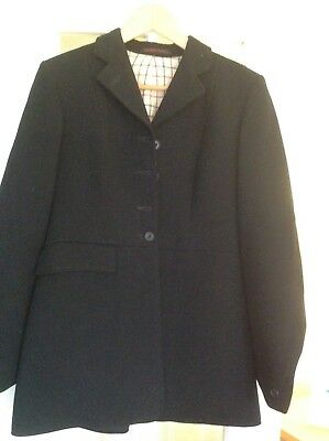 Ladies woollen hunting jacket from harry hall small