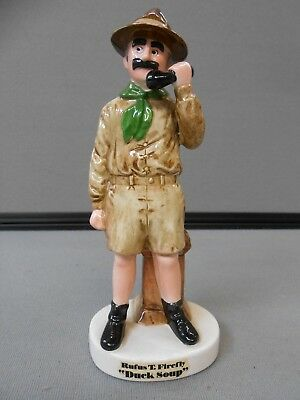 "Groucho Marx ""Rufus T. Firefly in Duck Soup"" Porcelain Figurine 1981 - 7"""