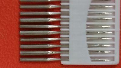 10 of Standard ROUND SHAFT sewing machine needles, 80/11, 90/14. UK