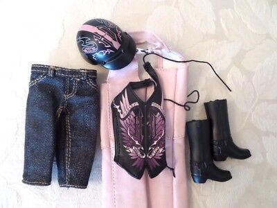 Barbie Harley Davidson Outfit Complete New