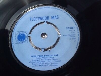 "FLEETWOOD MAC - ""Need Your Love So Bad"" (Blue Horizon 57-3157) VG+ Cond."
