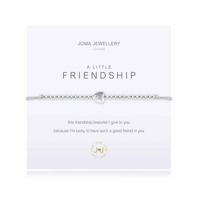 A Little Friendship Bracelet – Grey - Silver Plated Joma Jewellery Gift for Her