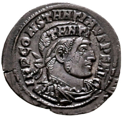 CONSTANTINE THE GREAT (312 AD) Scarce Follis. Rome Sol #MA 9303
