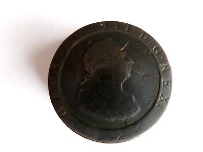 1797 George III One Penny Coin (devil horn on forehead!)