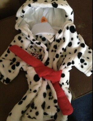 101 Dalmatian Robe /Dressing Gown Tiny Baby BRAND NEW