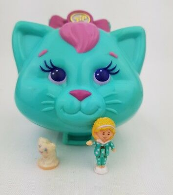 Vintage Polly Pocket Cuddly Kitty 100% Complete 1993 by Bluebird