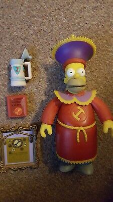The Simpsons Playmates World of Springfield stonecutter homer interactive figure