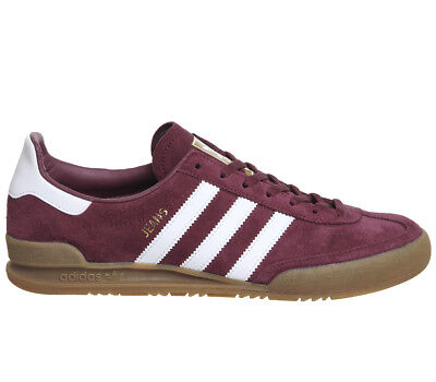 Adidas Jeans Trainers MAROON WHITE Trainers Shoes