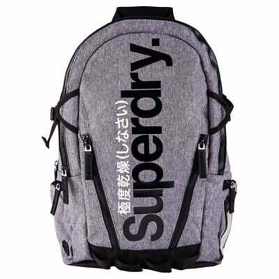 Superdry Gel Tarp Back Pack One Size Grey Grit