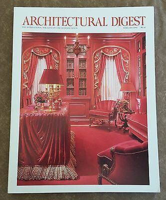 Architectural Digest Magazine February 1990