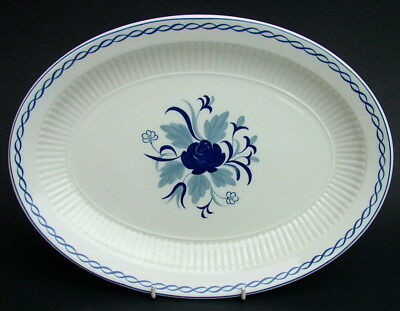Adams Blue Baltic Pattern Large Size Oval Serving Platter 35cm Looks in VGC