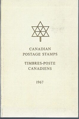 1967 Canadian Postage Stamps / Timbres-Poste Canadiens Rare Presentation Book