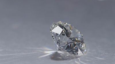 0.035 Carat  Brilliant Cut Diamond taken from scrap White gold SI1 investment