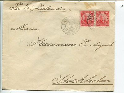 Brazil cover to Sweden 1915