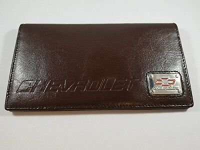 Motorhead Products MH-1561 Chevrolet Checkbook Cover - Dark Brown