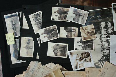 huge WWI A.E.F. soldier archive, map,50+ letters, cards, photos France 1917-19