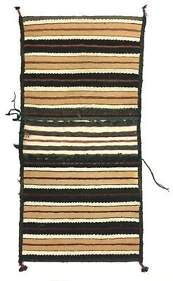 "c. 1920 Pueblo Saddle Blanket with Pouches, 50"" x 25"""