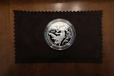 2016-W American Eagle One Ounce Platinum Proof Coin with Slider,Box,Case and CoA