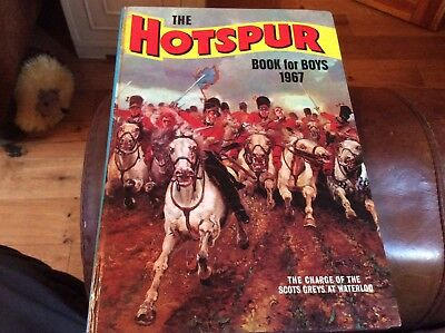 Rare Vintage Uk Annual- The Hotspur Book For Boys 1967 -