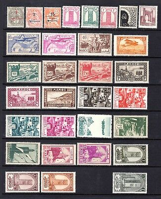 MOROCCO EARLY TO MID PERIOD MOUNTED + LIGHTLY MM RANGE x 31 STAMPS NOT CAT BY ME