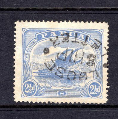 """PAPUA 1911 sg87 2.5d BRIGHT ULTRAMARINE FINE USED WITH """"LOOSE SHIP LETTER"""" PMK"""