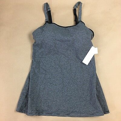 Gilligan & O'Malley Nursing Cami Striped Black & Gray Shirt Tank Top Small NEW