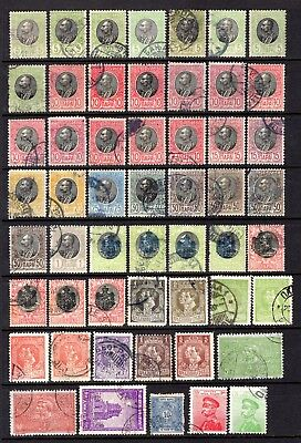 SERBIA EARLY TO MID PERIOD GOOD TO FINE USED RANGE x 53 STAMPS NOT CAT BY ME