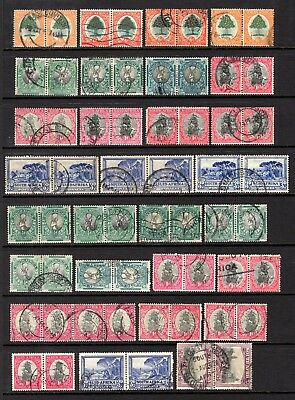 SOUTH AFRICA BI-LINGUAL PAIRS GOOD TO FINE USED x 108 STAMPS NOT CAT OR CHECKED