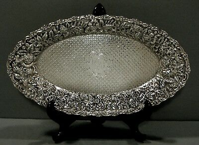 A. Jacobi Sterling Tray      HAND DECORATED    c1885       *  RARE  *