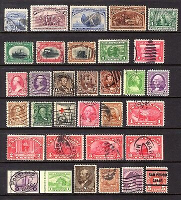 USA EARLY TO 1920's ERA GOOD TO FINE USED RANGE x 33 STAMPS NOT CAT BY ME
