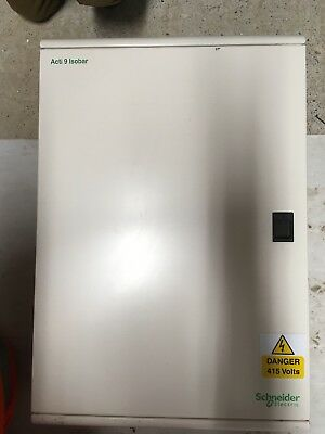 Schneider acti 9 isobar 36 way TP+N 125a Main switch 3 phase Distribution Board