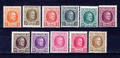 BELGIUM 1922 ALBERT 1st? LIGHTLY MOUNTED MINT x 11 STAMPS ODD SMALL HINGE REMAIN