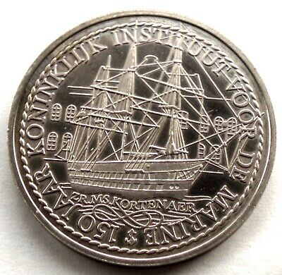 10 SALUUT 150 YEARS OF ROYAL INSTITUTE FOR THE MARINE UNC 1979 Silver Proof A4.5