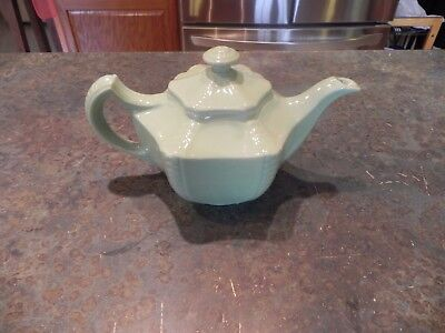 Vintage Teapot - Hall 6 Sided Starfish - Celery Green