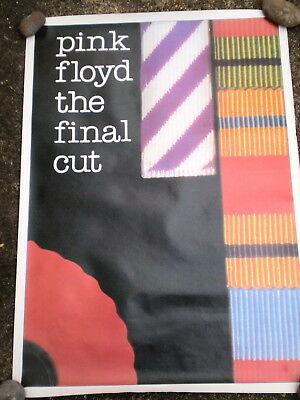Authentic 1983 Promotional Poster - Pink Floyd  - The Final Cut