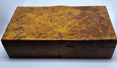 Antique burr walnut curio box