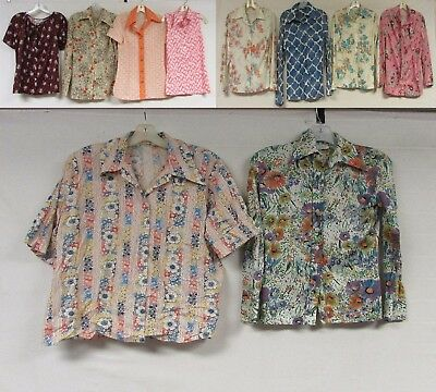 Lot of 10 Vintage 70s Disco Shirts Floral Groovy Psychedelic Funky Costume